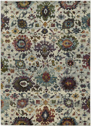 Sphinx Gray Transitional Synthetics Bulbs Vines Scrolls Area Rug Floral 7129A