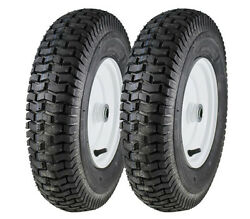 2 New 4.80-8 Deestone 4 Ply Turf Tires And Wheels Lawn Mower And Garden Tractor A3