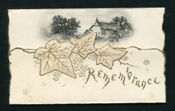 Rare Christmas Card From Queen Victoria To Lady Southampton Signed Vri 1897