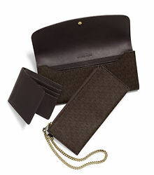 Michael Kors Juliana Large Three In One Wallet Wristlet Card Holder Phone Case