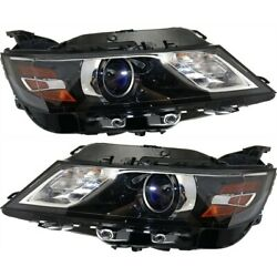 Headlight Set For 2015 2016 2017 Chevrolet Impala Left And Right With Bulb 2pc