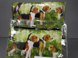 New Beagle Dog Zippered Pouch amp; Check Book Wallet Ruth Maystead 3 Beagles Dogs