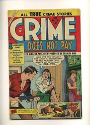 Crime Does Not Pay 139 Vg+ 1954 Lev Gleason Golden Age Gangster Tuska C09964