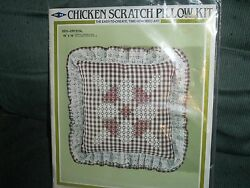 NIP Vintage 1983 MH Chicken Scratch Pillow kit CRYSTAL DS11 14x14 Sealed