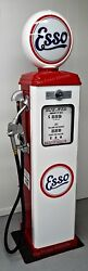 New Replica Esso Gas Pump - Antique Oil Reproduction White And Red - Free Ship