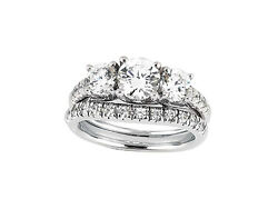 1.25ct Round Cut Diamond Engagement Ring Wedding Band Set Solid 14k Gold Gh Si1