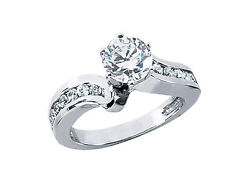 Natural 1.00ct Round Cut Diamond Engagement Ring Solid 14k Gold