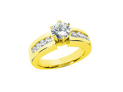 0.75ct Round Brilliant Cut Diamond Engagement Ring Solid 18k Gold G Si1