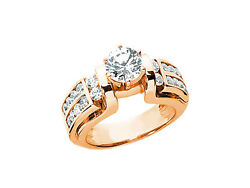 Natural 1.50ct Round Diamond Engagement Ring Solid 14k Rose White Yellow Gold