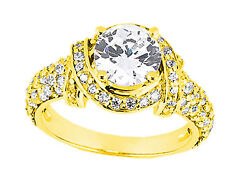 Natural 1.20ct Round Cut Diamond Pave Engagement Ring Solid 14k Gold Gh Si1