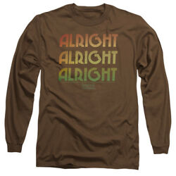 Dazed And Confused Teen Comedy Film Alright Alright Alright Adult L-sleeve Tee