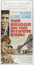 The Bridge On The River Kwai Original Large 3-sheet Movie Poster William Holden