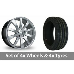 4 X 20 Riva Suv Hyper Silver Alloy Wheel Rims And Tyres - 255/35/20