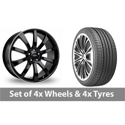 4 X 20 Riva Suv Black Polished Alloy Wheel Rims And Tyres - 275/35/20