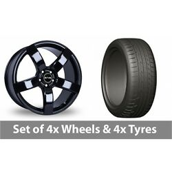 4 X 20 Riva Fwd Black Alloy Wheel Rims And Tyres - 275/45/20