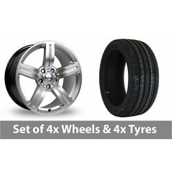 4 X 19 Riva Msx Silver Alloy Wheel Rims And Tyres - 255/40/19