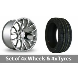 4 X 18 Threesdm 0 01 Silver Polished Alloy Wheel Rims And Tyres - 245/50/18