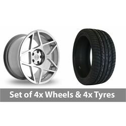 4 X 20 Threesdm 0 08 Silver Polished Alloy Wheel Rims And Tyres - 275/40/20