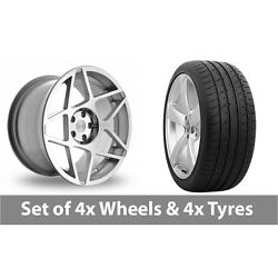 4 X 20 Threesdm 0 08 Silver Polished Alloy Wheel Rims And Tyres - 265/30/20