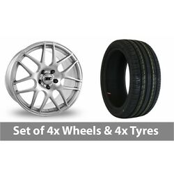 4 X 18 Drc Drm Silver Alloy Wheel Rims And Tyres - 225/55/18