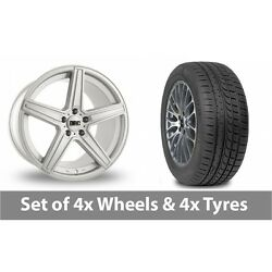 4 X 19 Drc Dma Silver Alloy Wheel Rims And Tyres - 265/30/19