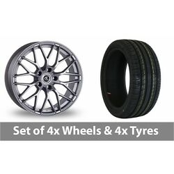 4 X 17 Ac Wheels Saphire Silver Alloy Wheel Rims And Tyres - 215/40/17