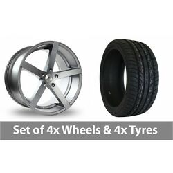 4 X 22 Ac Wheels Star Five Grey Alloy Wheel Rims And Tyres - 265/35/22