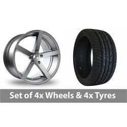 4 X 22 Ac Wheels Star Five Grey Alloy Wheel Rims And Tyres - 275/40/22
