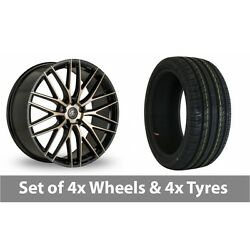 4 X 19 Ac Wheels Syclone Black Alloy Wheel Rims And Tyres - 245/45/19