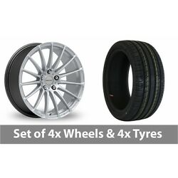 4 X 18 Inovit Force 5 Silver Alloy Wheel Rims And Tyres - 235/55/18