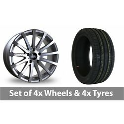 4 X 18 Bola Xtr Silver Polished Alloy Wheel Rims And Tyres - 245/50/18