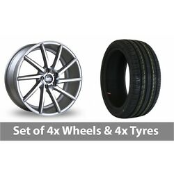 4 X 20 Bola Zzr Silver Polished Alloy Wheel Rims And Tyres - 225/30/20