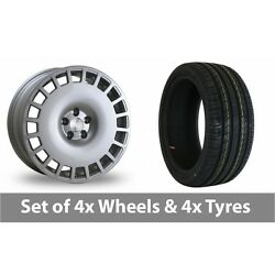 4 X 18 Bola B12 Silver Alloy Wheel Rims And Tyres - 225/45/18