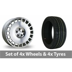 4 X 18 Bola B12 Silver Polished Face Alloy Wheel Rims And Tyres - 245/45/18