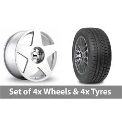 4 X 19 Bola B10 Silver Polished Alloy Wheel Rims And Tyres - 265/30/19