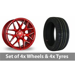 4 X 18 Bola B8r Candy Red Alloy Wheel Rims And Tyres - 235/50/18