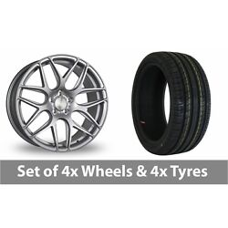 4 X 19 Bola B8r Silver Alloy Wheel Rims And Tyres - 255/35/19