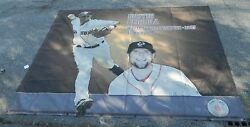 Huge Pawtucket/boston Red Sox Dustin Pedroia Stadium Banner Only One 9'11x12'4