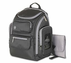 Jeep Everyday Easy Access Perfect Pockets Baby Diaper Bag Backpack Grey New