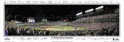 Chicago Cubs 2016 World Series Game 3 Wrigley Field Signs Panoramic Poster 2117