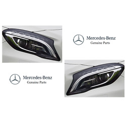For Mercedes W156 Set Pair Of Left And Right Headlight Assemblies Bi-xenon Genuine