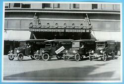 12 By 18 Black And White Picture 1924 Elliot Taylor Chevrolet Fleet Of Panel Trks