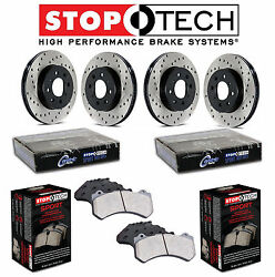 For Front & Rear StopTech Drilled Brake Rotors Sport Pads KIT For Maxima 04-05