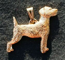 JACK RUSSELL TERRIER Dog 24K Gold Plated Pewter Pendant Jewelry USA Made