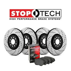For Acura Ilx 13-15 Front Rear Stoptech Drilled Brake Rotors+pads Kit 936.40007