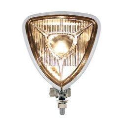 Motorcycle Triangle Headlight With Chrome Housing / Round Back