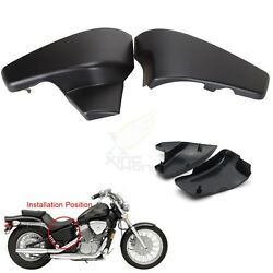 Black Battery Side Covers Fit For Honda Vt 600 C Shadow Vlx Deluxe 1999-2007 New