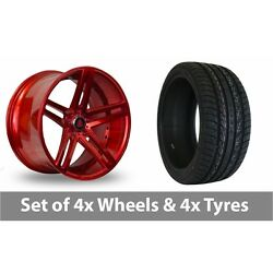 4 X 20 Axe Ex20 Candy Red Alloy Wheel Rims And Tyres - 275/35/20