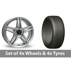 4 X 20 Wolfrace M10 Silver Alloy Wheel Rims And Tyres - 275/45/20