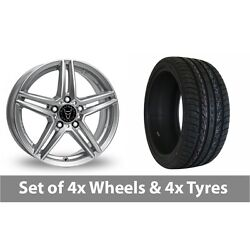 4 X 20 Wolfrace M10 Silver Alloy Wheel Rims And Tyres - 275/35/20